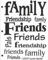 Family friends words stencil bcs212 click to see full size image click to enlarge image family friends words publicscrutiny Choice Image